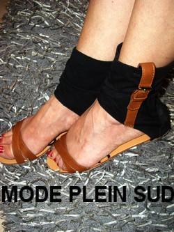 chaussure sandale bellucci plate noir boutique vetements. Black Bedroom Furniture Sets. Home Design Ideas